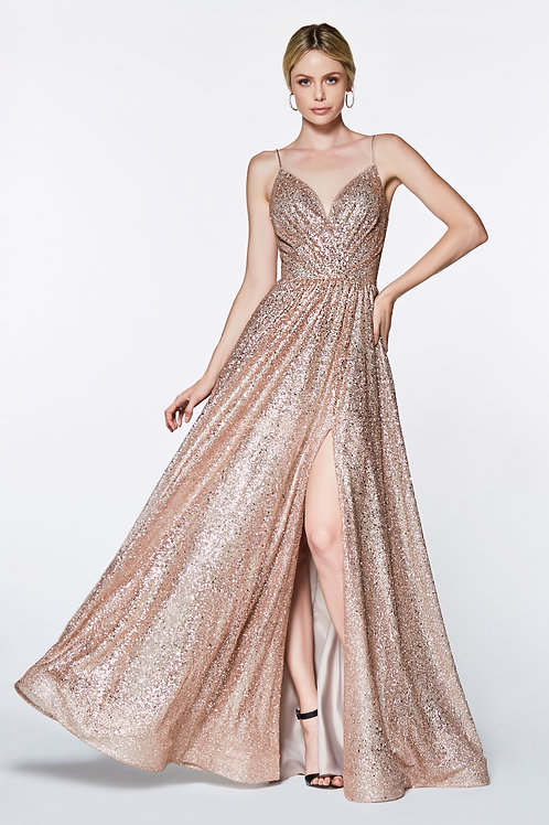 CD Glitz Rose Gold Gown