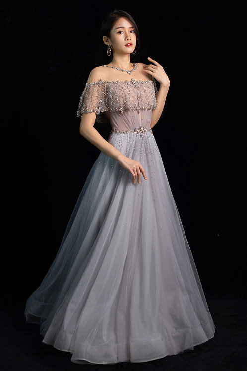 S Majestic Mystic Blue Gown