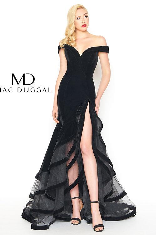 MD Strata Velvet Black Gown
