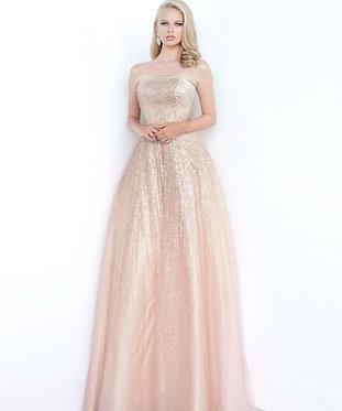 J Rose Gold Glitter Sweetheart Ball Gown