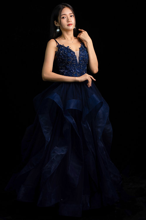 S Blue Hayley Gown