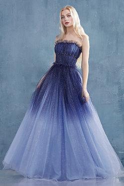 AL Galina Blue Ombre Gown
