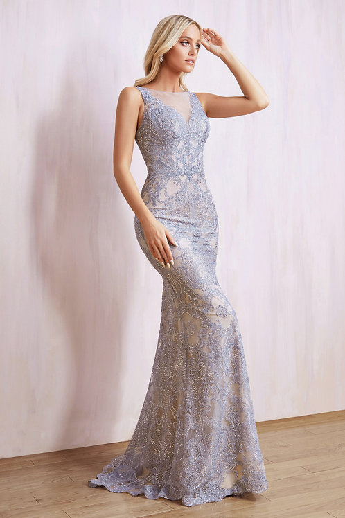 AL Aria Lace Tiered Gown
