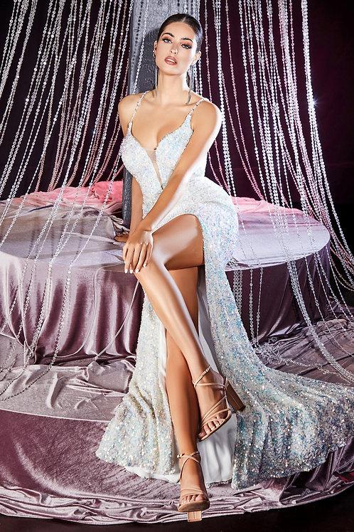 CD Monique Iridescent Crossback Gown