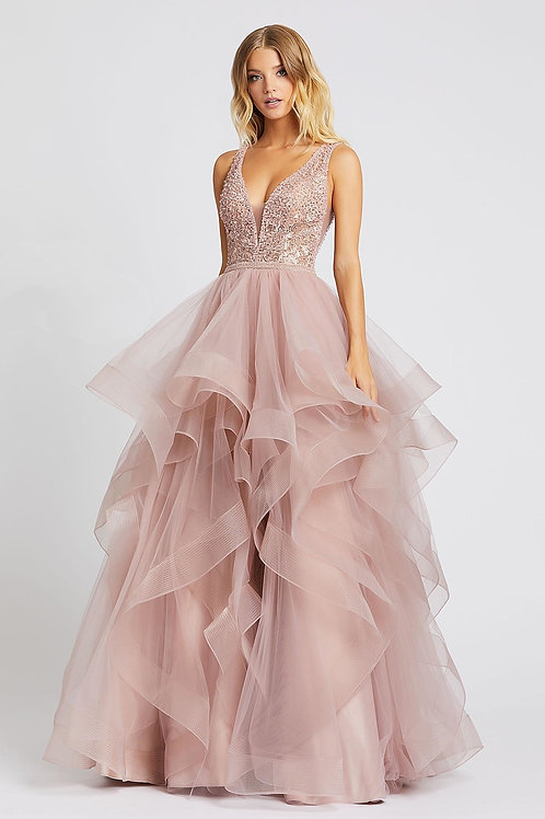 MD Pink Arya Ruffle Gown