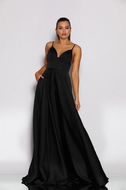 JA Eda Black Gown