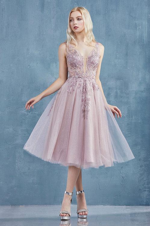 AL Alicia Mauve Midi Dress