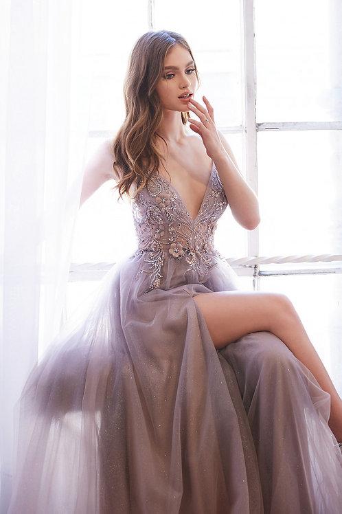 AL Daphne Dreamer Floral Mauve Gown