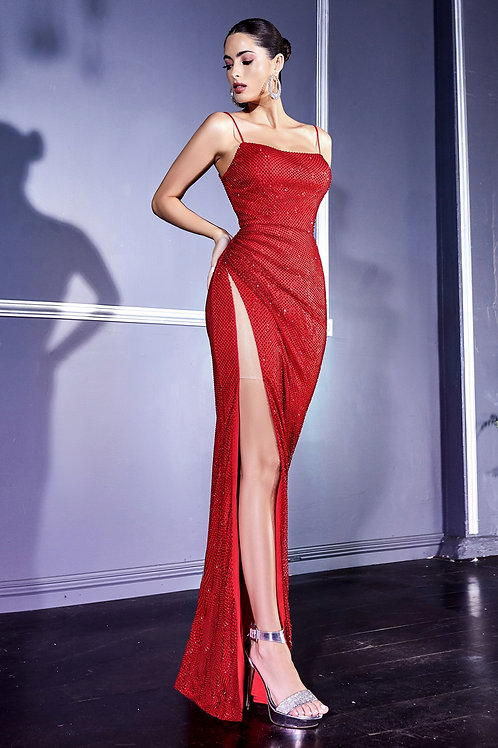 CD Sultry Ruby Fused Gown