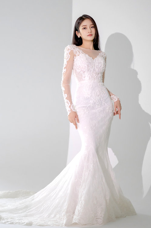 Tamyra Long Sleeves Bridal Gown