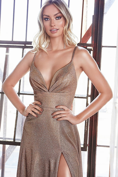 CD Freya Metallic Copper Gown