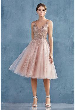 AL Rose Gold Midi Gown