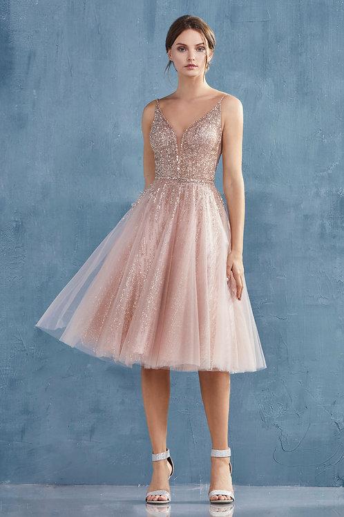 AL Angelica Midi Dress Rose Gold
