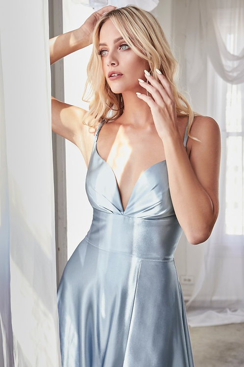 CD Freya Silk Gown Paris Blue