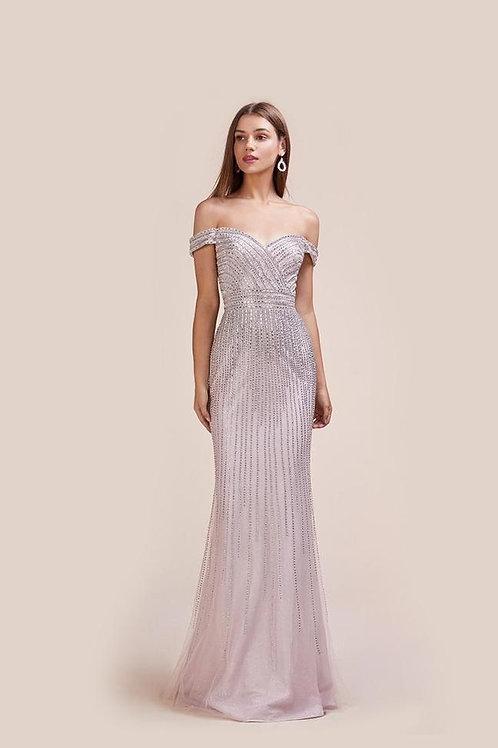 AL Artemis Pink Silver Gown