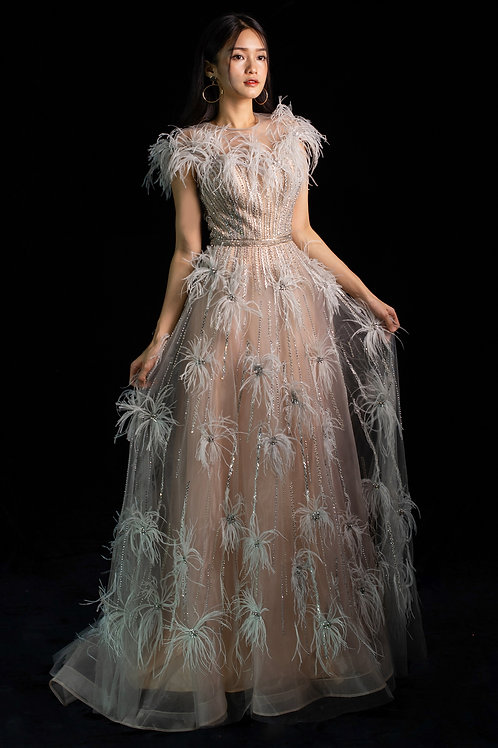S Majestic Feather Gown