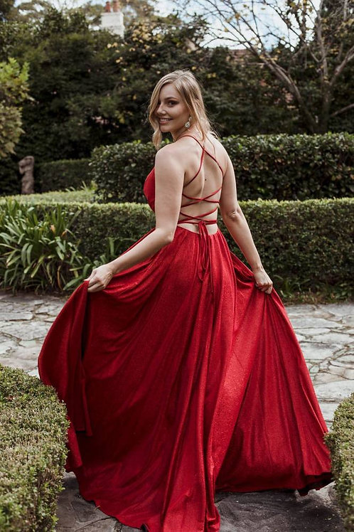 JA Stardust Red Gown