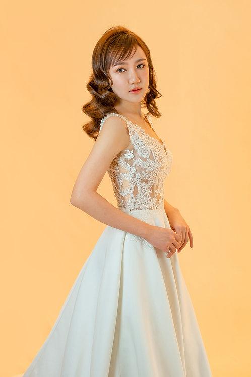 S Duchess Satin Bridal Gown