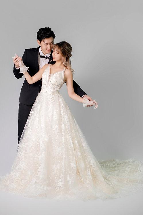 S Gwen Glitter Bridal Gown