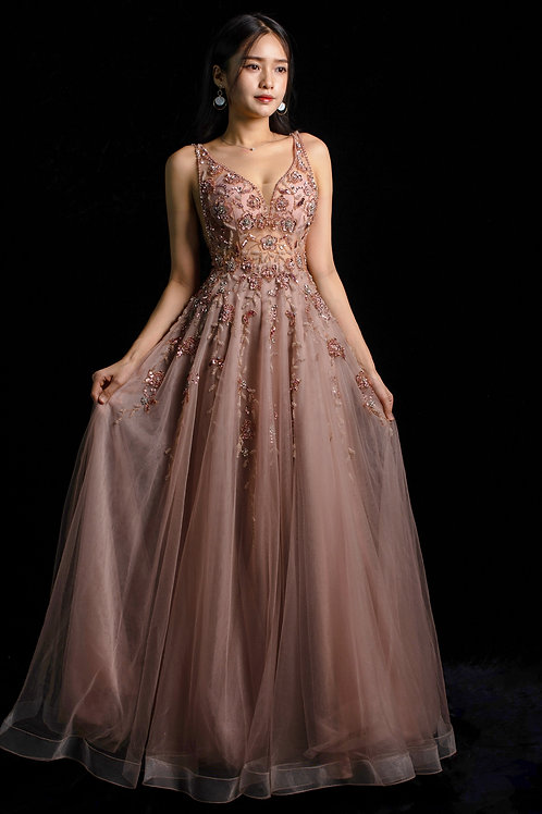 S Kate Pink Floral Gown