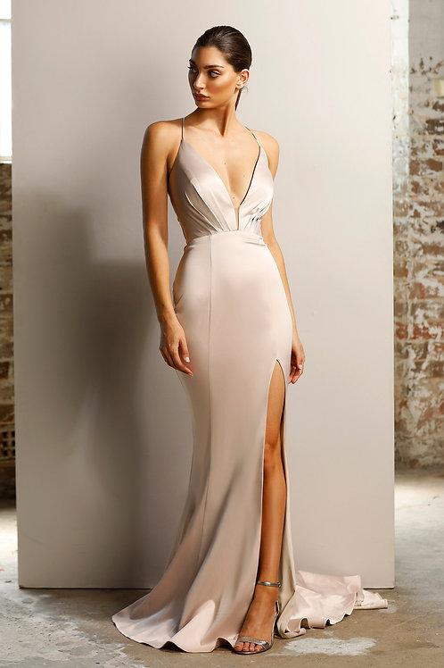 JA Nude Silk Gown