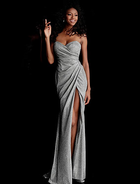 J Gunmetal Sweetheart Hugo Gown