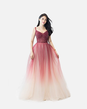 S Red Ombre Gown