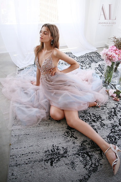 AL Venice Gown Rosewood