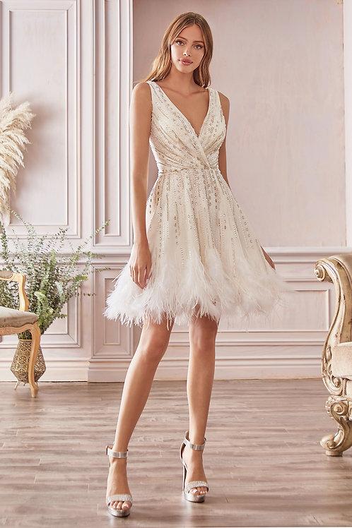 AL Wren Midi Dress White