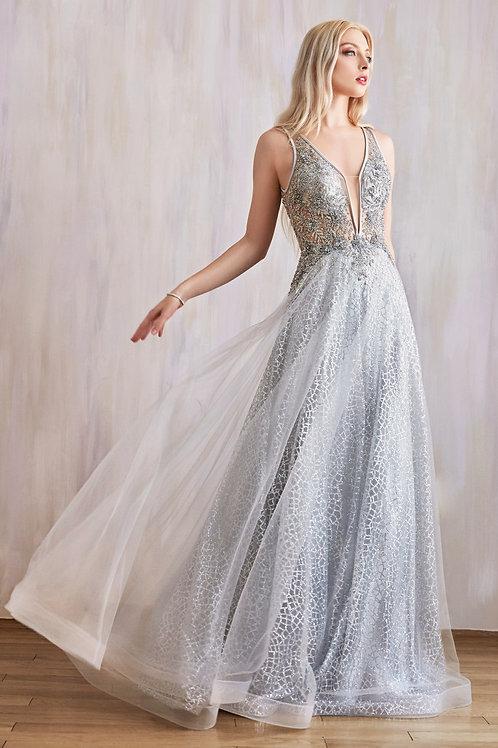 AL Vespertine Gown Silver