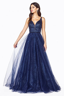 CD Navy Galaxy Gown