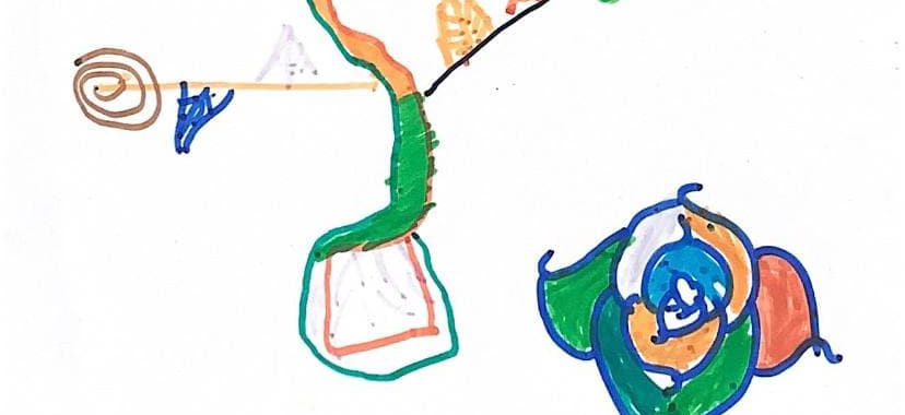 Drawing done by Sponsored Child