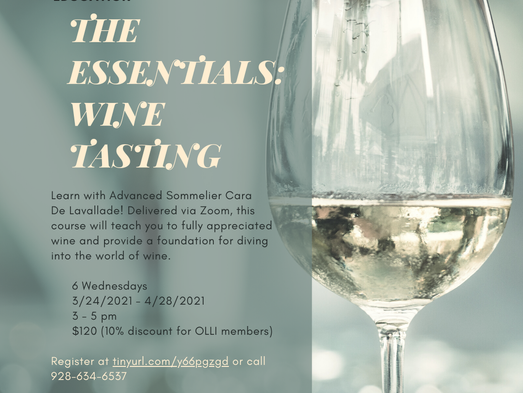 Wine: The Essentials at Yavapai College... coming this spring!