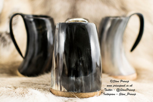 Heat Resistant, Engraved, SMALL Horn Tankard