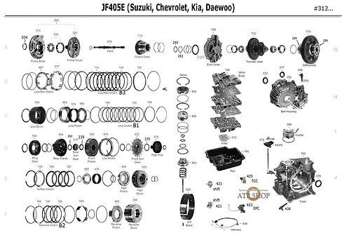 В разборе АКПП JF405E (Kia, Daewoo, Suzuki,Chevrolet)