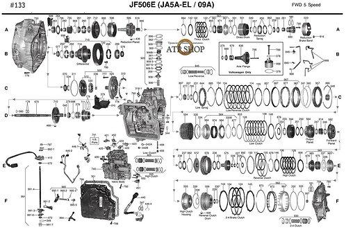 В разборе АКПП JF506E (JA5A-EL) Mazda