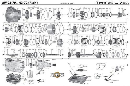 В разборе АКПП Toyota 03-70LAW0370
