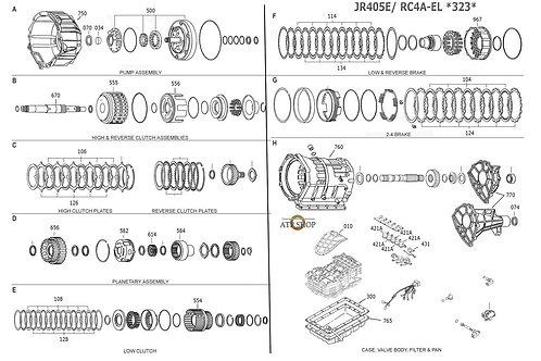 В разборе АКПП JR405ERC4A-EL Mazda Bongo