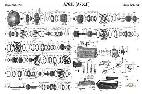 В разборе АКПП Toyota A760, A761,A760E