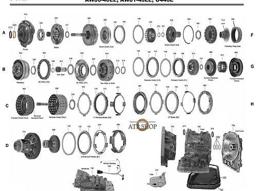 В разборе АКПП U440 Suzuki, Chevrole (AW8040)