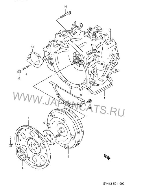 Boleno АКПП для Suzuki Boleno Estem Cultus 4ст 60-40LE SY415 SY416 SY418