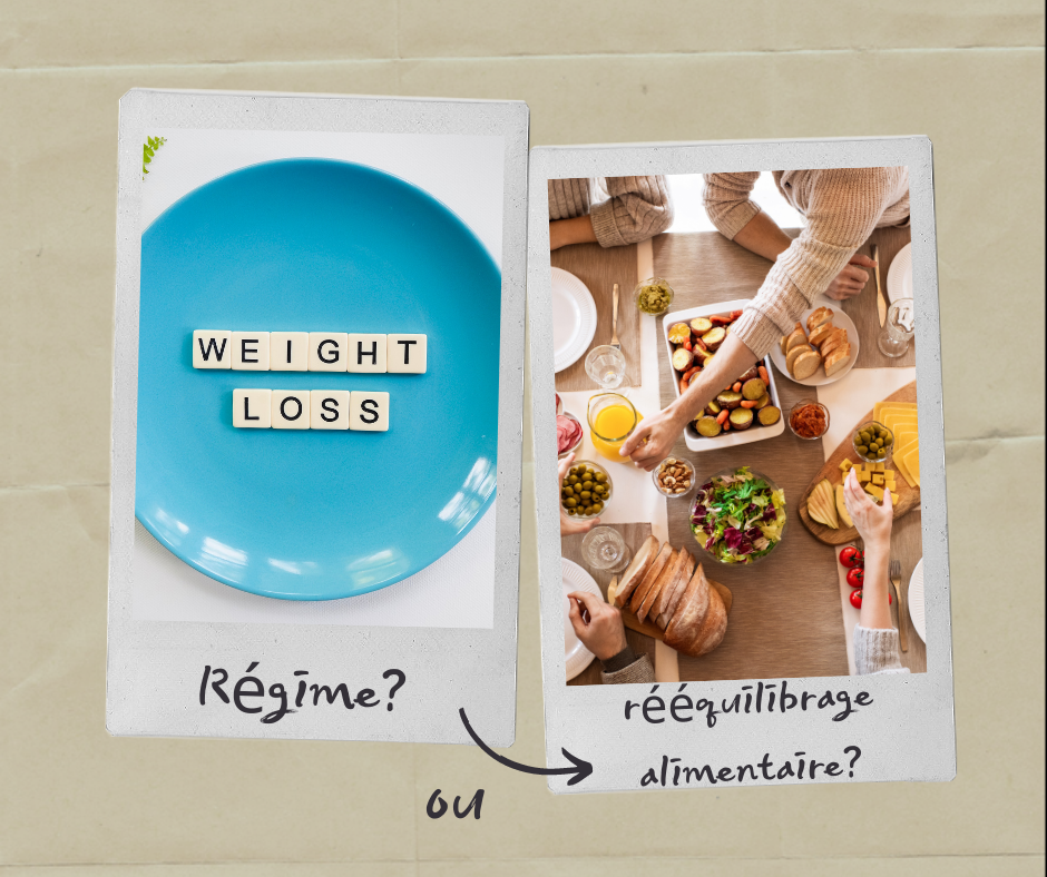 différence entre régime et rééquilibrage alimentaire