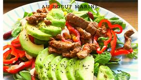 Salade mexicaine au bœuf mariné