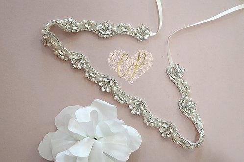 Opal Bridal Belt/Sash