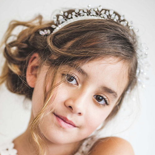 The Ethereal Princess Crystal Crown Luxury Girls Headband