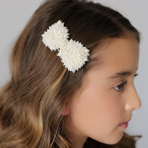 The Valentina Bow Designer Girls Hair Clip - Sienna Likes to Party