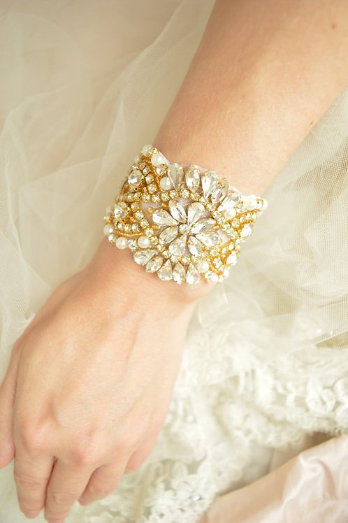 Alexa Gold Bridal Cuff