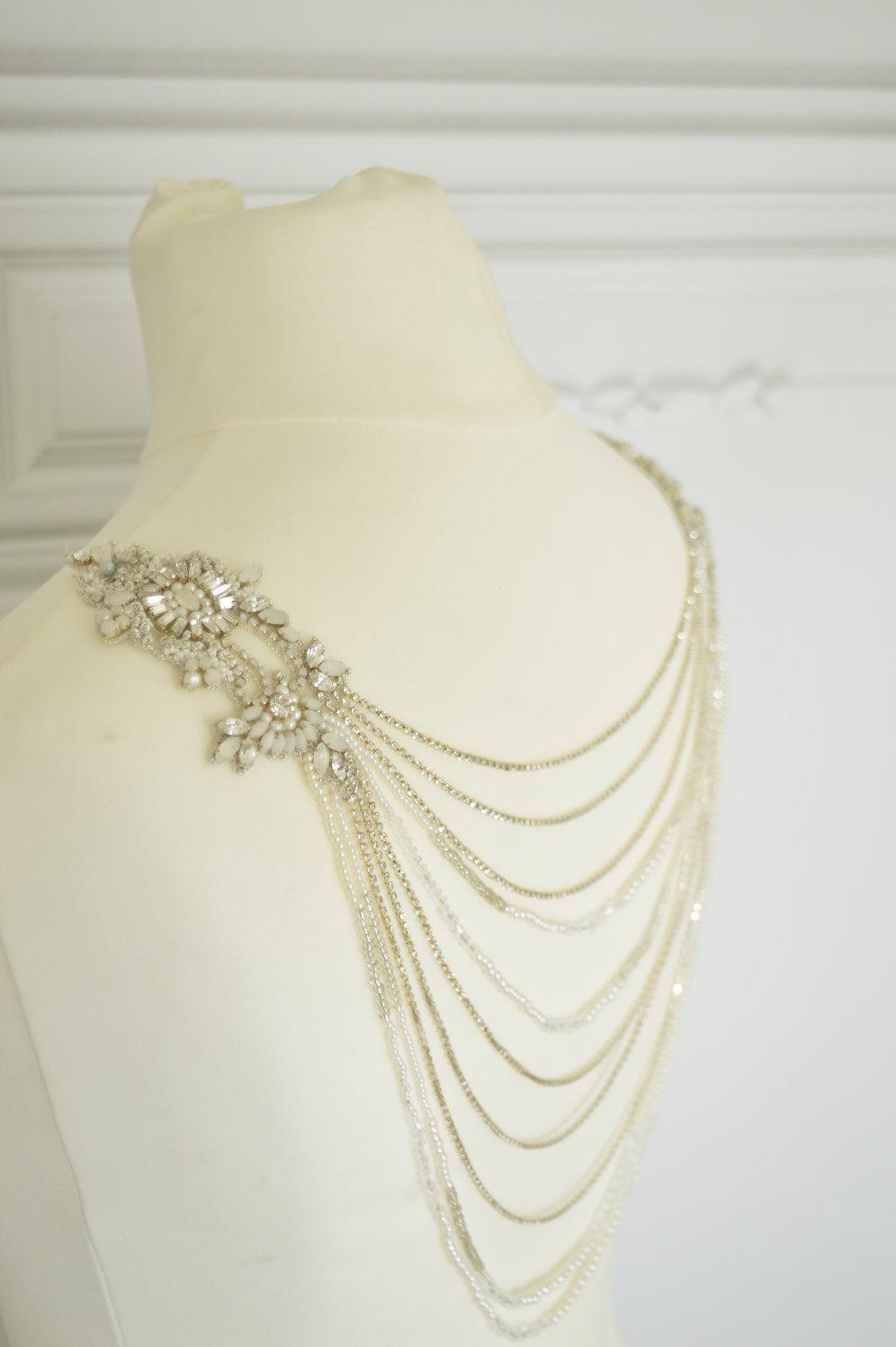 90cb39a3a25ae Opus Wedding Dress Back Jewellery