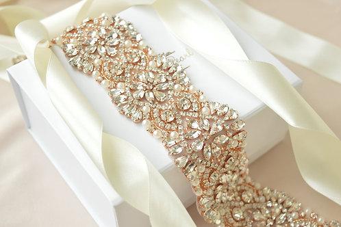 Alexa Rose Gold Bridal Sash