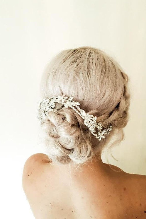 Silver Floral Hair Slide